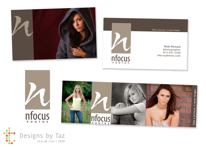 Along with a logo, I created a coordinating business card and blog header.