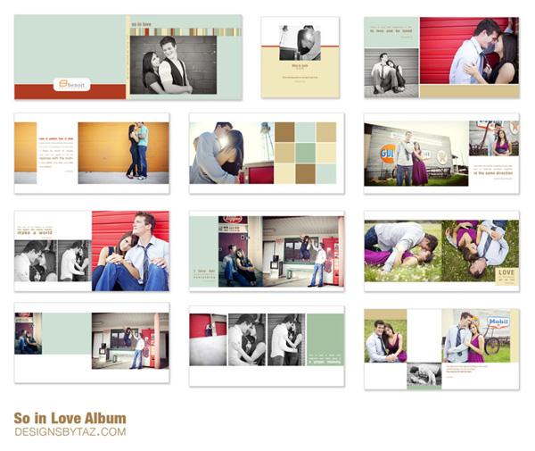 NEW Albums Image Box Templates Designs by Taz Identity and – Template for Photo Album